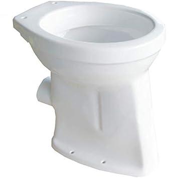 6 cm Abgang waagerecht Stand Flachsp/ül WC erh/öht