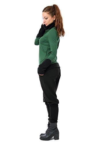 invierno larga Made Sudadera de para 3elfen de de oscuro verde In mujer de Pullover lana manga de Berlin Ux1OtwC