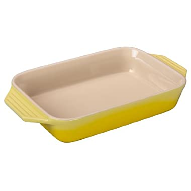 Le Creuset Stoneware Rectangular Dish, 10.5 by 7-Inch, Soleil