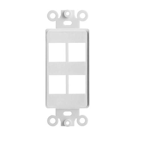 Tricom Quickport Decora Wall Plate Keystone Insert (1 Pack, 4 Ports)