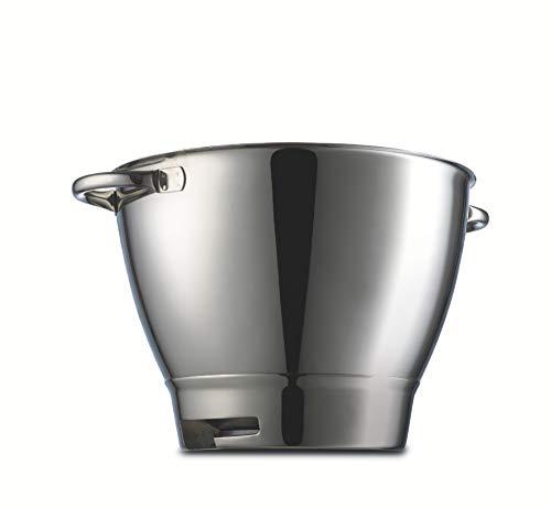 Kenwood 36386A Accesorio Bol con Asas Compatible con Robots De Cocina Major Y Chef, Acero Inoxidable, 6.7 litros, Plateado