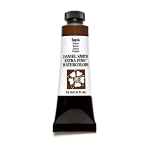 Daniel Smith Extra Fine Watercolor 15ml Paint Tube, Sepia