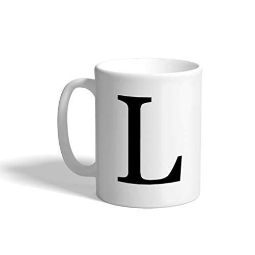 Custom Coffee Mug 11 Ounces Alphabet Letter Monogram L Ceramic Tea Cup Design Only