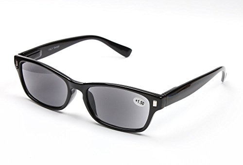 Sunglasses Reading Glaases_Men and Women Presbyopic Glasses Polarized Sunglasses WIth Degree (Black, - Sun Glaases
