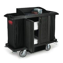 Rcp6190Bla Compact Housekeeping Cart WVinyl BagBlack (1)