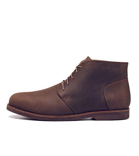 Nisolo Men's Chavito Leather Lace Up Casual Chukka Boot with Durable Rubber Sole