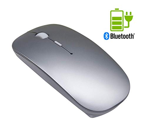 Quiet Wireless Bluetooth Mouse Rechargeable - Tsmine Mini Gaming Mouse Computer Mouse with 3 Adjustable DPI Level (800DPI,1200DPI,1600DPI),Compatible with PC, Mac, Desktop and Laptop (Best Bluetooth Mouse For Ipad)