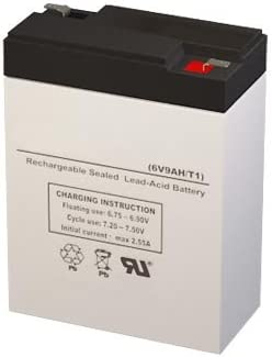 P4CH1 6 Volt 9 AmpH SLA Replacement Battery with F1 Terminal