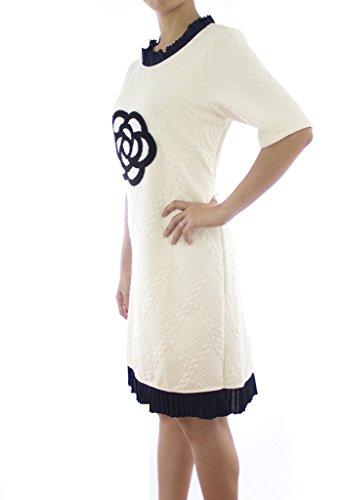 Ladies Room Fashion Women's Short Sleeve Winter Cashmere Dress US 8 White