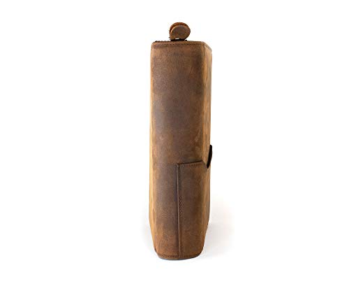 Wall St Smoker, Grand Genuine Leather Portable Travel Cigar Case, Holds 8-10 Double Gordo Cigars by Soul Beautiful (Image #4)