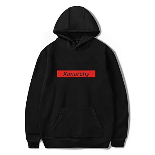 Décontracté Hop Capuche Longues Unisexe Imprimé Sweater Pull Uniforme À Hip Xanarchy Sportif Sweatshirts Noir3 Capuche Sweat Homme Manches Tops wHHxX1qEZ