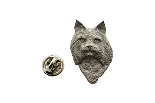 Sarah's Treats & Treasures Bobcat Head Pin ~ Antiqued Pewter ~ Lapel Pin