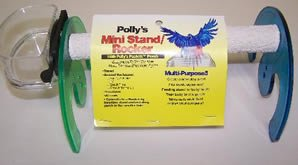 Pollys Pet Products Rocker Mini Bird Stand Size Small Assorted Colors, My Pet Supplies