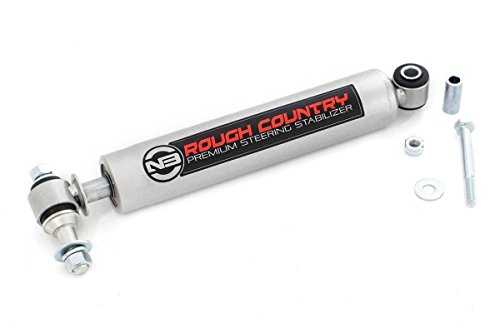 Rough Country 8731730 N3 Steering Stabilizer for Jeep TJ, XK, MJ, ZJ, WJ, and GM 2500 3500 HD