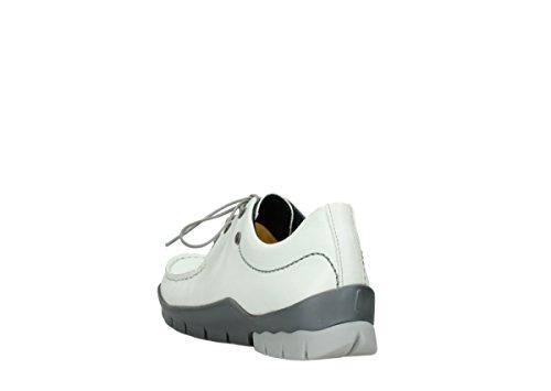 à 70100 Comfort Wolky lacets Blanc Chaussures Cuir Natalia wqqUFEAR