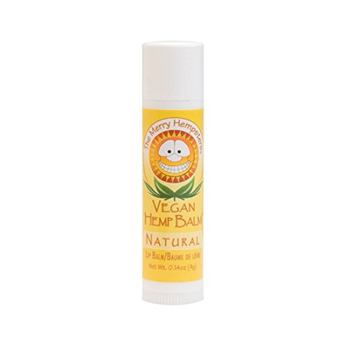 Based Balm Lip (Merry Hempsters (The) Vegan Hemp Lip Balms Natural 0.14 oz. tubes (a))