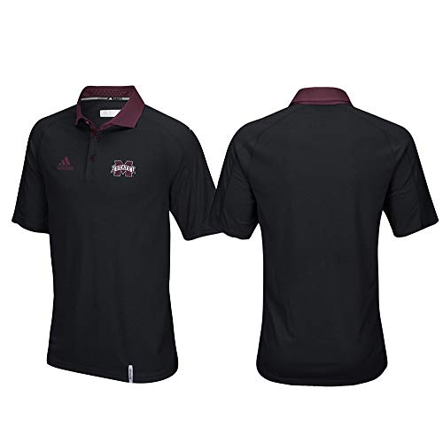 adidas Mississippi State Bulldogs NCAA Men's Sideline Climachill Performance Black Polo Shirt ()