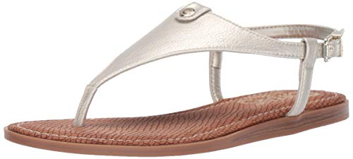 Circus by Sam Edelman Women's Carolina Flat Sandal, Jute Tumbled Bolt, 11 M US (Womans Gold Thong Sandals)