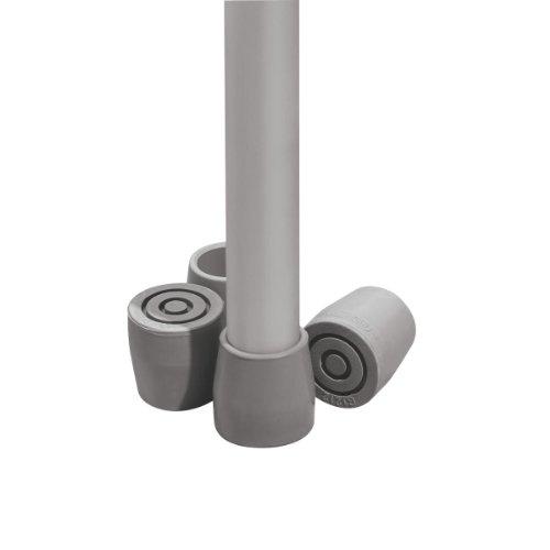 "medline G01202 1"" Guardian Utility Tips, Gray (Pack of 8)"
