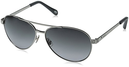 51S Aviator Sunglasses, Silver/Gray Gradient, 60 mm ()