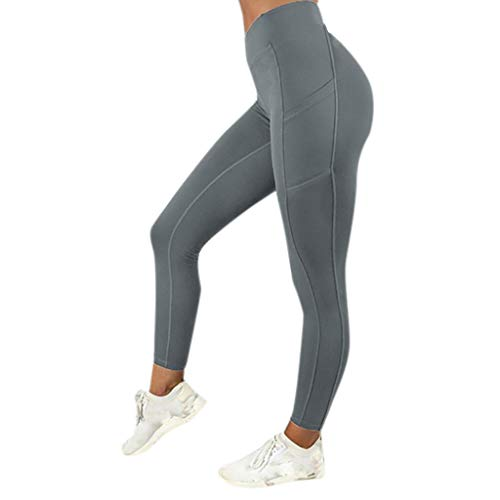 - Tummy Control Yoga Leggings Women's High Waist Yoga Pants with Pockets,Workout Running 4 Way Stretch Gym Athletic Pants