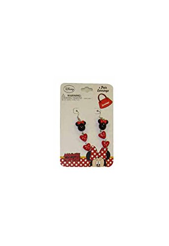 Pooh Bib With Hat Costumes (Disney Minnie Mouse Hearts Baby Girls Dress Up Dangle Earrings)