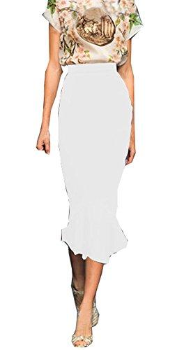 White Sequin Pleated Skirt - 6