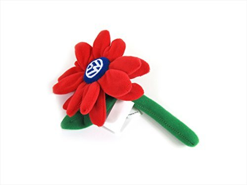VW Volkswagen Driver Gear RED Plush Flower Daisy For Bud Vase Beetle (New Beetle Gear)