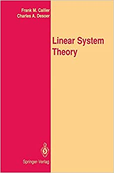 Book Linear System Theory: Springer Texts in Electrical Engineering