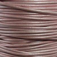 - #56 Metallic Suraiya Round Leather Cord 1.5mm (1/64