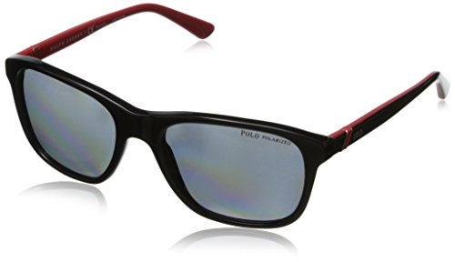 Polo Ralph Lauren Men's PH4085 Square Sunglasses,Shiny Black,55 - Ralph Glasses Men Lauren