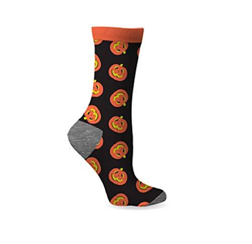 Women's Fun Spooky Halloween Dress Socks (Pumpkin) (Pumpkin Socks)