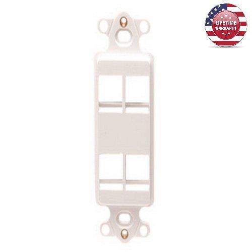 White Inserts 4 Keystone Port - 5 Pack X ICC HD Keystone Decora Insert - 4 Port – White - By Nexiron