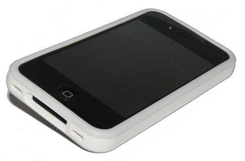 Silikon Case Bumper Handy Tasche für Apple iPhone 4S / Schutzhülle weiss inkl. Handy-Punkt Displayreinigungstuch