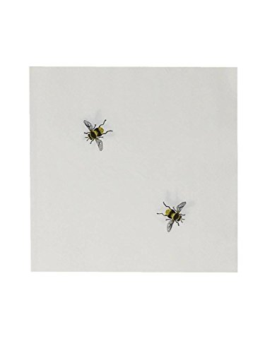 Bees Paper Lunch and Dinner Napkins, 60 Count