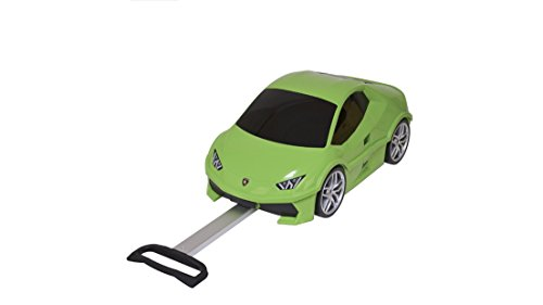 Lime Green Lamborghini Theme Carry On Luggage Hardtop Hardside Roller Set, Stylish Car Themed Hard Side Top Suitcase Upright Spinner Wheels by DH