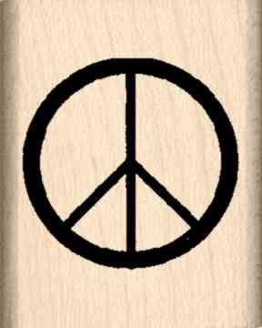 Stamps by Impression Peace Sign Rubber Stamp