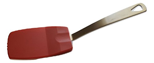 Norpro 18/10 Stainless Steel & Heat-Resistant Flexible Nylon Mini Spatula (1-pack, Red) ()