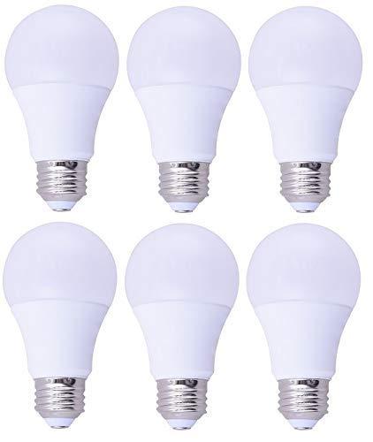 6 Pack Bioluz LED™ A19 9w (60 Watt Premium) Soft White (2700K) Light Bulb Pack of 6