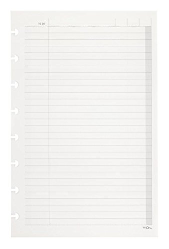 TUL Custom Note-Taking System Discbound Refill Pages, 5.5 x 8.5, Junior Size, To Do List, 100 Pages (50 Sheets), White