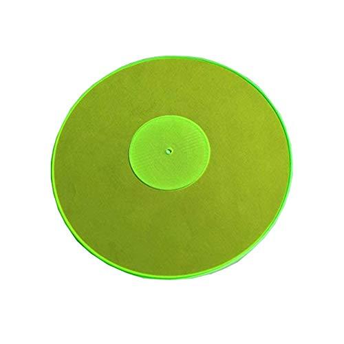 Acrylic Turntable Mat – GreenLit – LP Slipmat