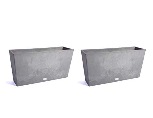 Veradek Midori Trough Planter - Charcoal - 31 in. - 2 Pack ()
