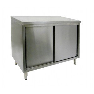 Cabinet Enclosed Work Table w/Sliding Door 24''(W) x 36''(L) x 35''(H) by ACE