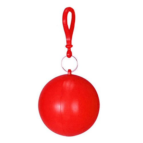 Lisin 6 Color Portable Disposable Emergency Raincoats Portable Hook Poncho Ball (Red) - Crystal Petite Lamp Chandelier