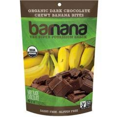 Barnana - Organic Chocolate Chewy Banana Bites (12-3.5 oz bags) - Shelf life of 18 months