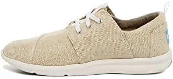Toms Women's Del Rey Sneaker Natural Metallic Linen