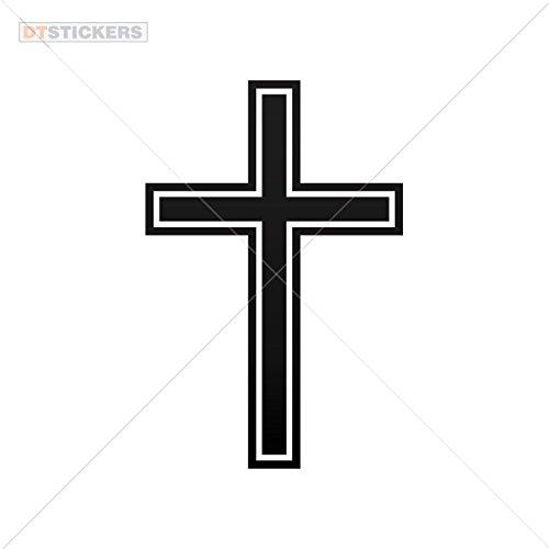 Vinyl Sticker Decal Cross Symbol Atv Car Garage bike (10 X 6,64 In. ) Vinyl color Black