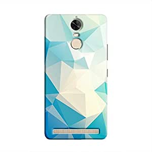 Cover It Up - Light Blue Pixel White Triangles Lenovo Vibe K5 Note Hard Case