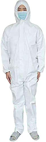 SUITLIM Disposable Coveralls 3XL for Men Women Elastic Protective Coverall Suit XL with Hood SMS Lab Medical C