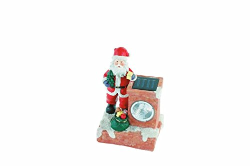 Lightahead Solar Powered Santa Lights for Christmas Holiday Decoration Garden Path lamp